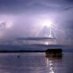 Catatumbo lightning over Lake Maracaibo